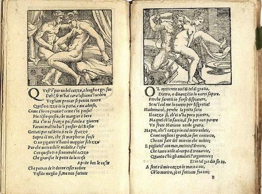 Romano's illustrations along with Aretino's sonnets
