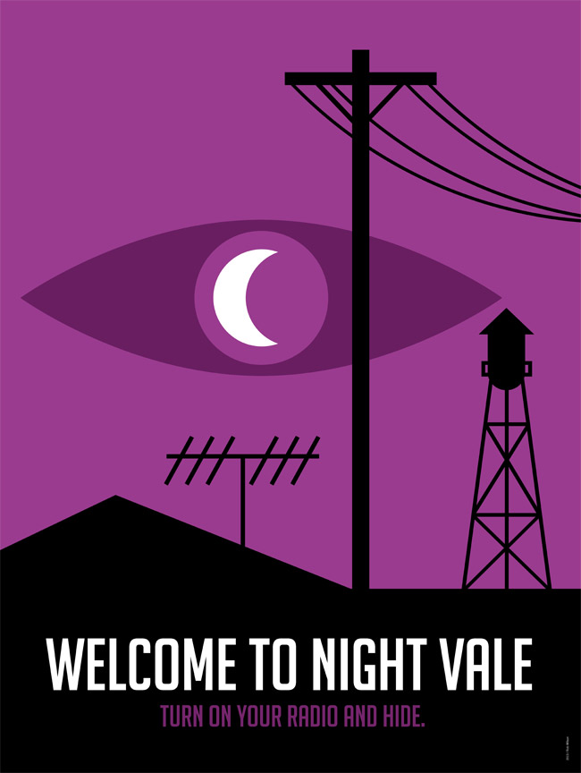 Welcome to Night Vale Logo. Source: Rob Wilson, http://robwilson-work.tumblr.com