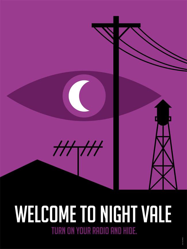 Welcome to Night Vale Logo. Source: Rob Wilson, http://robwilson-work.tumblr.com