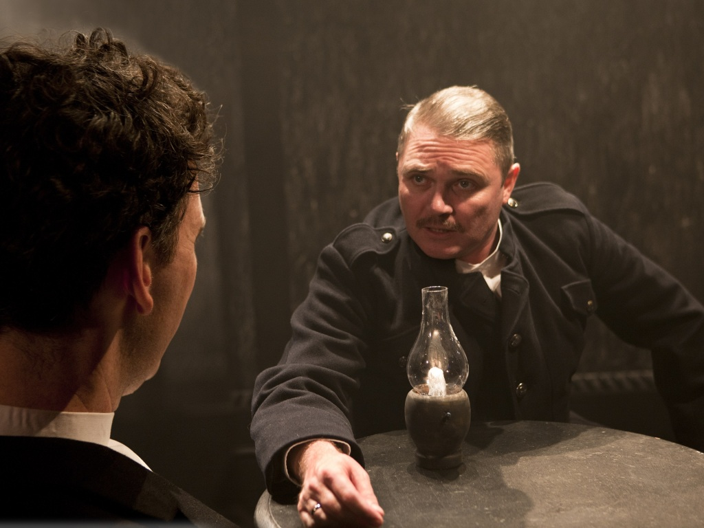 Alex Ferns (Captain) in Laurie Slade's adaptation of The Father at Trafalgar Studios 2. Credit Simon Annand.