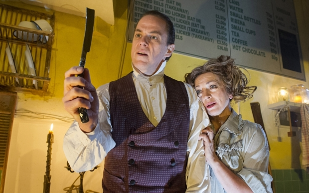 'Sweeney Todd' Musical performed at 'Harrington's Pie and Mash Shop, 39-45 Shaftsbury Ave, London,UK