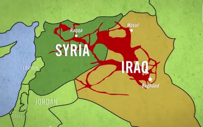 Map of ISIS-held territories 2015. Photo Credit: historywarsweapons.com