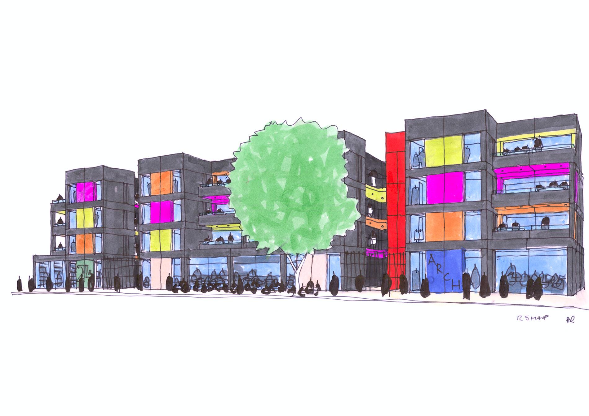 Proposed Lewisham Development. Photo Credit: RSH+partners
