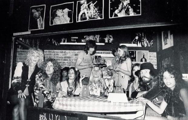 Led Zeppelin with Lori Mattix and Sable Starr. Photo Credit: Dazeddigital via Pinterest.